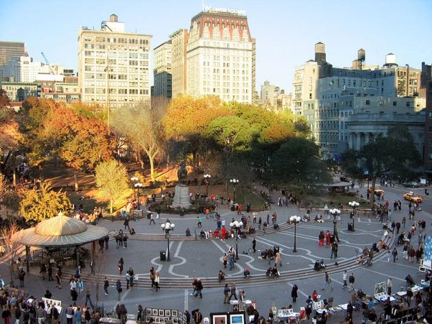Union Square NYC via Wikipedia Commons