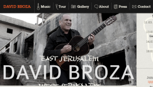 David Broza, web site screenshot