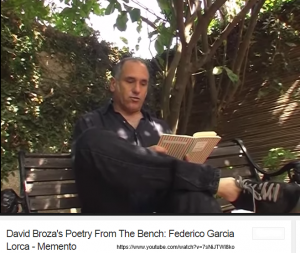 David Broza reading Lorca via YouTube