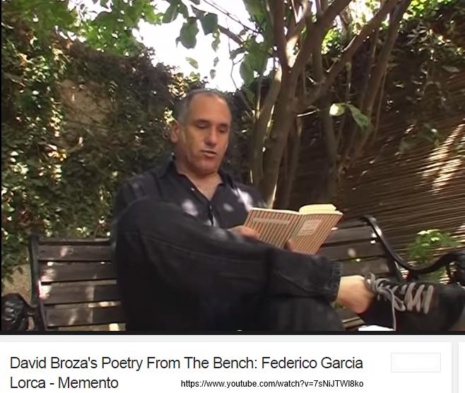 David Broza reading Lorca via YouTube