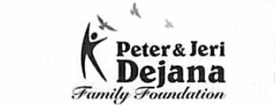 logo for Peter and Jeri Dejana Family Foundation - sponsor