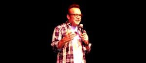 Photo - Tom Arnold in performance at Landmark May 2015