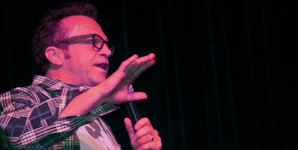 photo: Tom Arnold at Landmark on Main Street in DarkViolin Review May 2015
