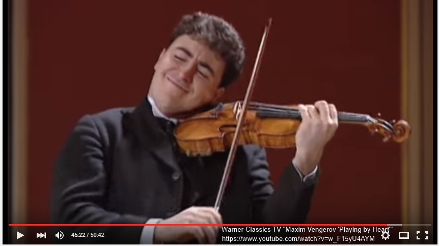"Screenshot: Maxim Vengerov from Warner Classics ""Playing by Heart"""