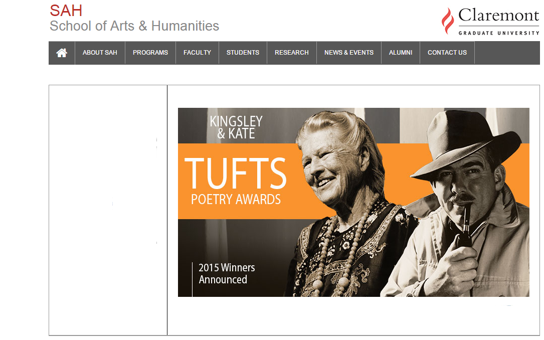 Kingsley - Kate Tufts Poetry Reading - screenshot via Claremont Graduate University