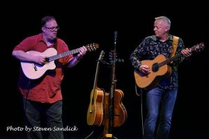 Tommy Emmanuel and Richard Smith at Landmark on Main Street photo by Steven Sandick